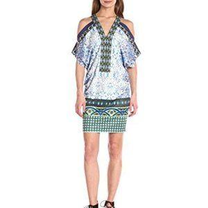 Hale Bob Women's Safari Palm Could Shoulder Dress